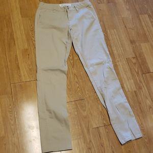 Aeropostale Skinny Twill khaki pants 0 regular
